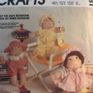 """McCall's 9581 770 Blossom Babies 12"""" soft sculpture dolls and clothes Sewing Pattern"""