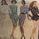 Butterick 3009 Misses' Cocktail Evening Dress 1980's vintage look sewing pattern size 14 16 18