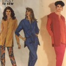 Simplicity 7396 Sewing Pattern for Misses XS S M L XL Easy to Sew Slim Pants Vest or Tunic