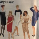 Simplicity 9347 Easy to Sew one or two piece dress Sewing Pattern size 8 10 12 14