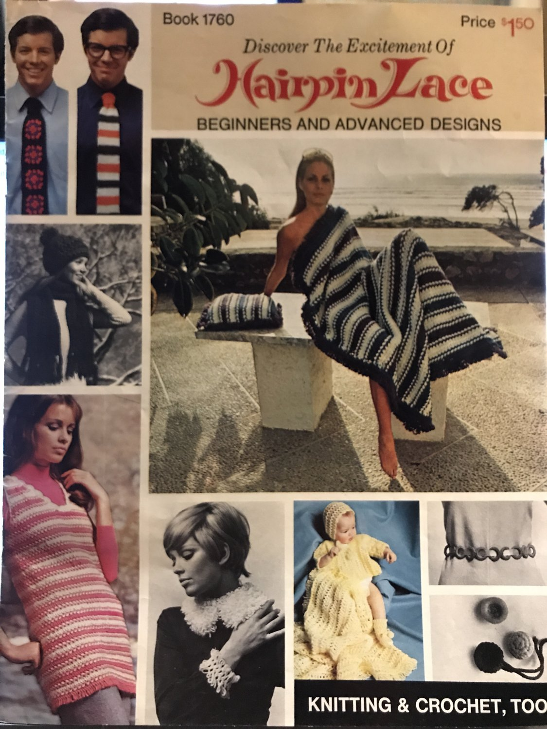 Bates Book 1760 Hairpin Lace Patterns Mod Designs for Men Women and Children Beginner and Advanced