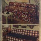 Simplicity 5552 Slipcover For Studio Couch, Twin Or Day Bed Bolsters Sewing Pattern