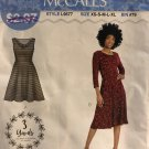 McCall's 9577 L9577 Misses Sew Simple Summer Dress Short or Long Sleeves Size XS - XL Sewing Pattern