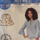 McCall's 9611 L9611 Misses Sew Simple Top Tunic Blouse Size XS - XL Sewing Pattern