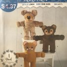 """mccalls sewing pattern 9624 L9624 14"""" stuffed animals toys Teddy Bear, Cat and Dog Sewing Pattern"""