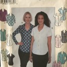 Simplicity 8189 Sewing Pattern Button Front Shirt, Sleeveless, short or long sleeves Size  12-14-16