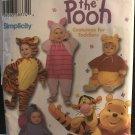 Simplicity Costume 4867 Winnie The Pooh Eeyore Piglet Tigger Size 1/2 - 4 Toddler