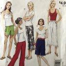 McCalls 9046 Easy Stitch 'n Save Misses Capri shorts Pants Sewing Pattern Size XS - Medium