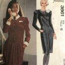 McCall's 3861 Liz Roberts 80s Fashion Drop Waist Dress Size 16 Sewing Pattern