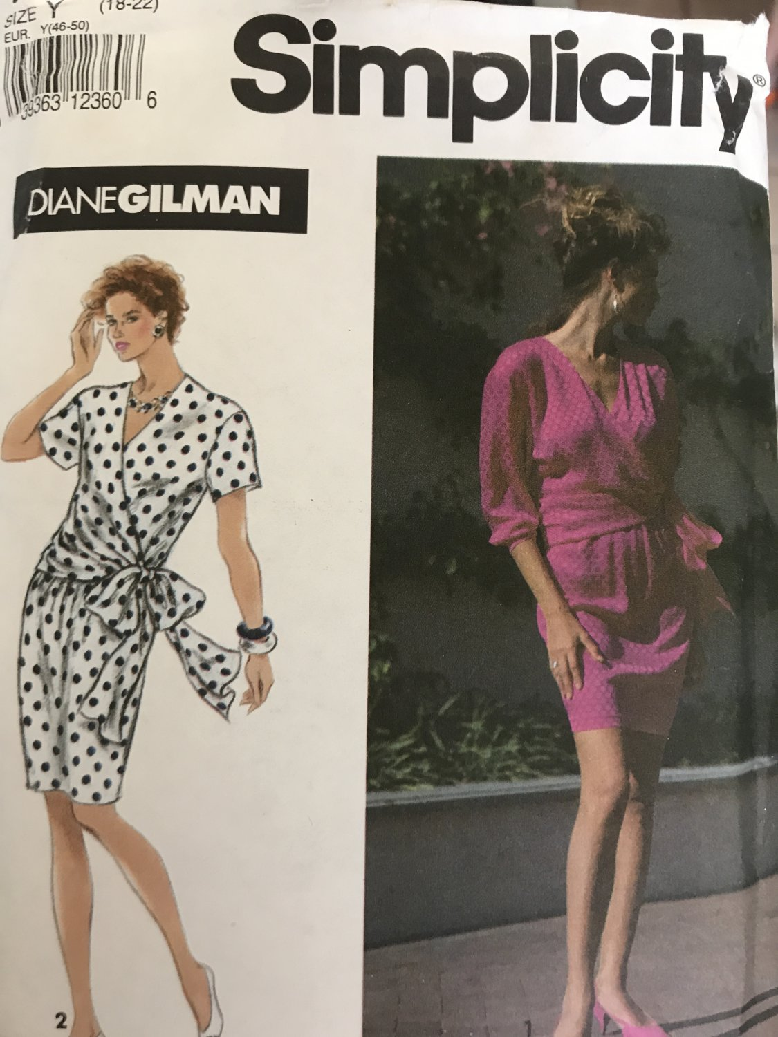 Simplicity 7761 Diane Gilman - Misses'  Summer Dress Sewing Pattern Size 18 - 22