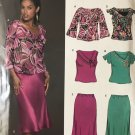 New Look 6438 Misses skirt and tops with neckline and sleeve variations  Size 8 - 18 sewing pattern