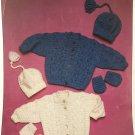 Baby sweater, cap and mittens knitting pattern Wondersoft 4684 double knitting yarn