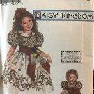 Simplicity 9355 Child's Daisy Kingdom Dress & doll dress sewing Pattern Size 3 4 5 6