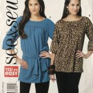 Butterick 5444 B544 See & Sew Misses Tunic Top Size XSM SML Med Sewing Pattern