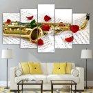 Jazz Wall Art Roses Saxophone Canvas Framed Print Home Decor