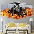 AH-64 Apache Canvas Wall Art Framed Tactical Decor Framed
