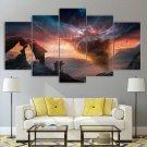 Sunset Tornado Canvas Wall Art Framed Prefect Storm Decor Framed Night Landscape