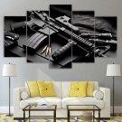 Weapons Ammo AR 15 Canvas Guns Wall Art Framed Tactical Decor Framed