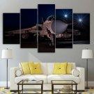 Jet Fighter Canvas Wall Art Framed Decor Framed Gift Idea 5 Piece