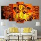 Lord Ganesha Canvas Framed Home Hindu mythology Decor Wall Art Painting Poster Framed