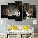Ganster Wall Art Canvas Home Tommy Gun Decor Framed Print Gift Idea Mob Boss Painting Poster 5 Piece