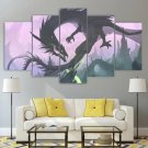 Fantasy Dragon Wall Art Canvas Home Decor Framed Print Gift Idea Painting Poster 5 Piece