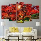 Japan Landscape Canvas Framed Red Tree Print Gift Idea Japanese Garden Wall Art