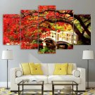 Japanese Garden Wall Art Japan Landscape Canvas Framed Red Tree Print
