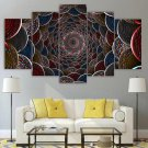 Artistic Wall Art Psychedelic 3D Canvas Framed Print Colorful Home Decor