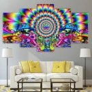 Artistic Wall Art Psychedelic Canvas Framed Print Colorful Home Decor
