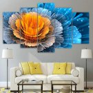 Fractal Flower Wall Art Psychedelic Canvas Framed Print Colorful Home Decor