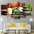 Spa Canvas Framed Zen Home Decor Yoga Wall Art Meditation Painting Poster Framed Gift Idea 5 Piece