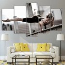 Fitness Wall Art Framed Workout Gym Home Decor Woman Sexy Canvas Yoga Painting