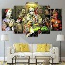 Slasher Horror Canvas Framed Poker Night Decor Movie Villains Wall Art