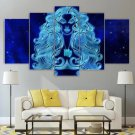 Virgo Zodiac Wall Art Canvas Framed Print Astrology Horoscope Decor
