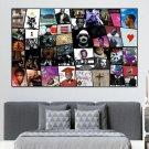 Hip Hop Wall Art Framed Canvas Rap Poster Gift Idea 1 Piece