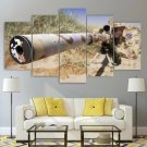 Military Sniper Canvas Framed Home Decor Soldier Wall Art Painting Sniper Poster Framed