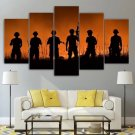 Military Canvas Framed Home Decor Army Soldier Wall Art Painting Overseas Poster Framed