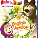 Masha And The Bear 61 Episodes English Version Blu-Ray 2BD set Russian Cartoons