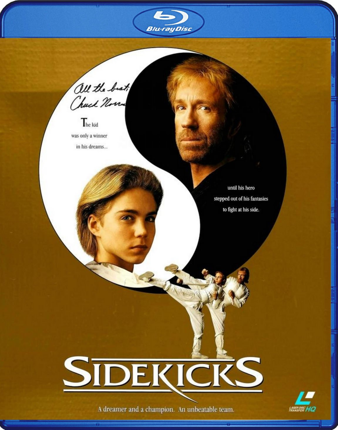 Sidekicks Blu-Ray (1992) Transferred from Lazerdisc to Blu-Ray