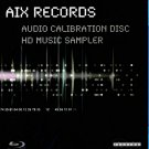 AIX Records Audio Calibration Disc HD Music Sampler Blu-Ray