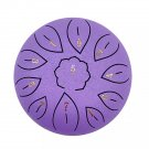 Steel Tongue Drum Drumsticks Drum With Finger Cots Yoga Meditation 6 Inch