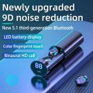 5.1 third-generation Bluetooth headset 9D panoramic sound noise reduction waterproof smart Earpiece