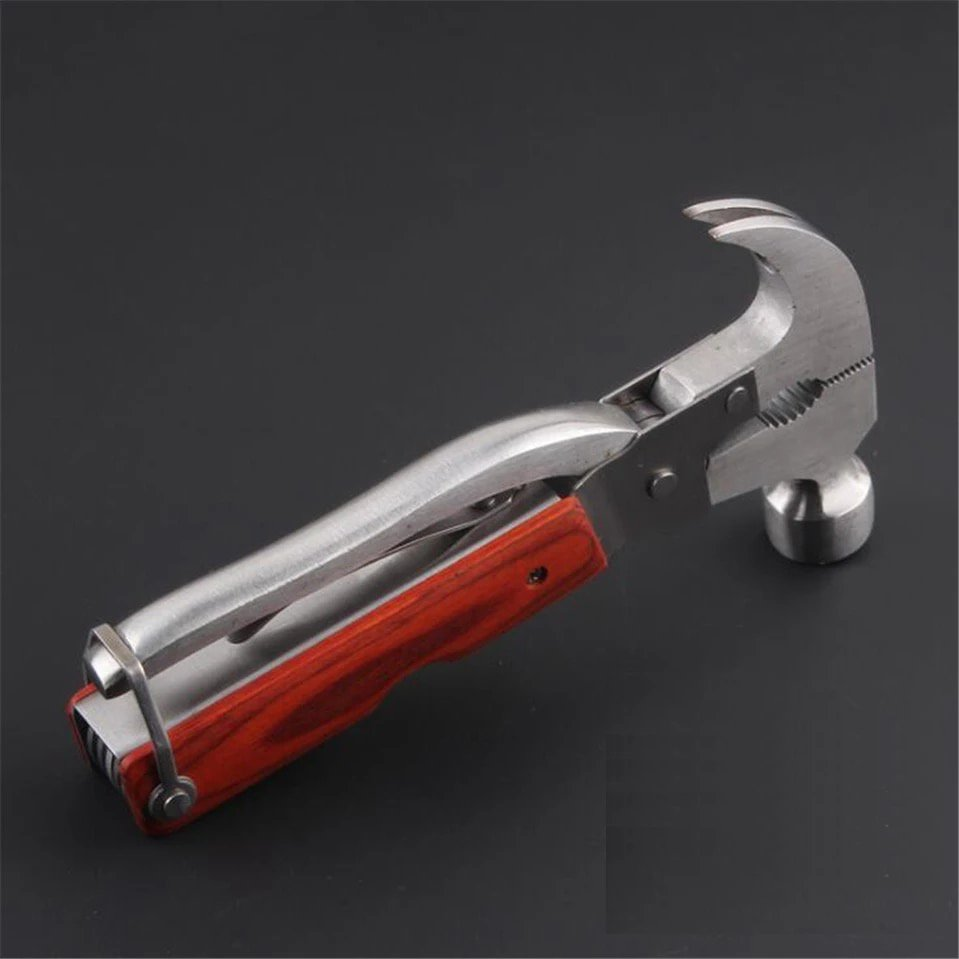 16 in 1 Outdoor Camping Multifunctional Tool Axe Hammer Stainless Steel folding Knife Vehicle