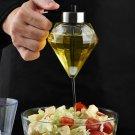 Oil Dispenser Diamond Shaped Glass Oil Bottle Kitchen Seasoning Bottle