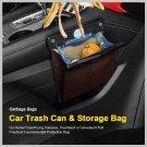 LED Car Trash Can Organizer Garbage Holder Automobiles Storage Bag Accessories