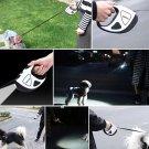 Pet Dog Automatic Retractable Fiber Leash Night Safety LED Shining Stretching Dog Hand Holding Rope