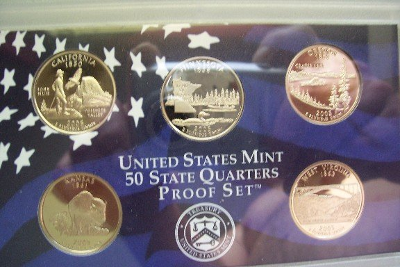 2005 US Mint State Quarters Proof Set (5 coins)