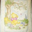 Classic Pooh Hunny Pots ECRU Quilt Fabric Panel Baby's Nursery NEW!