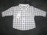 """""""Resort Getaway"""" Checkered Button Shirt 3/6 mos"""